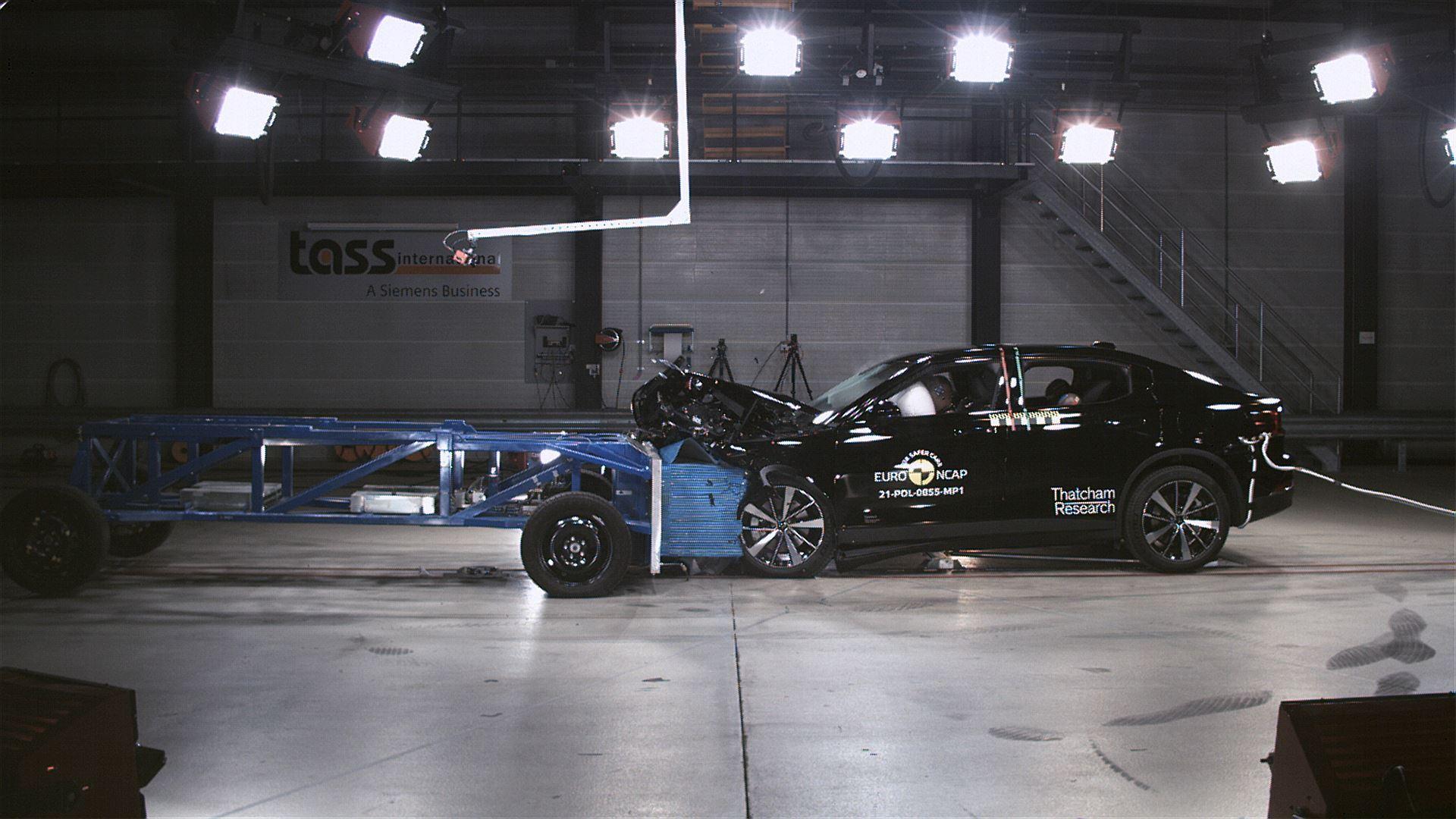 Polestar 2 - Mobile Progressive Deformable Barrier test 2021
