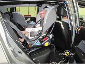 Kia Sportage – Child Rear Seat crash test