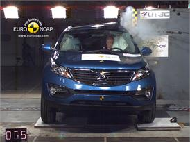 Kia Sportage – Pole crash test
