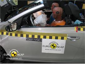 VW Golf Cabriolet – Driver crash test
