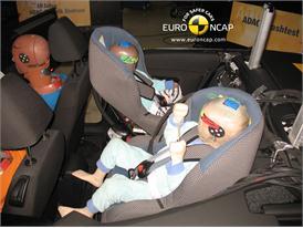 VW Golf Cabriolet – Child Rear Seat crash test