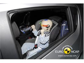 CHEVROLET Aveo – Child Rear Seat crash test