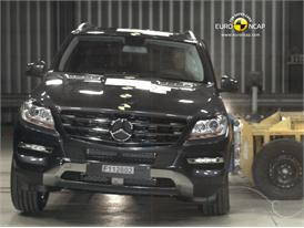 Mercedes M-Class – Side crash test
