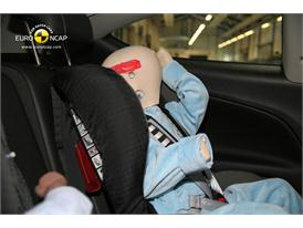 OPEL Vauxhall Astra GTC – Child Rear Seat crash test