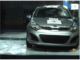 Kia Rio – Pole crash test