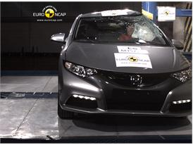 Honda Civic – Pole crash test
