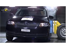 Skoda Rapid Side crash test 2012