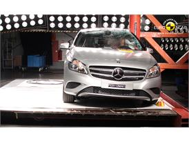 Mercedes Benz A-Class Pole crash test 2012