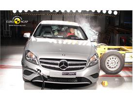 Mercedes Benz A-Class Side crash test 2012