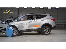 Hyundai Santa Fe Frontal crash test 2012