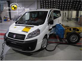 Fiat Scudo  -  Side crash test 2012 - after crash