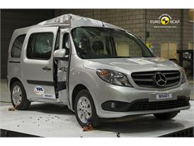 Mercedes Benz Citan - Pole crash test 2013 - after crash