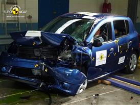 Dacia Sandero - Frontal crash test 2013 - after crash