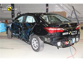 Toyota Corolla -Side crash test 2013 - after crash