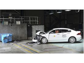Qoros 3 Sedan - Frontal crash test 2013 - after crash