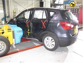 Suzuki SX4 -Side crash test 2013 - after crash