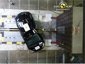 Nissan Note - Pole crash test 2013 - after crash