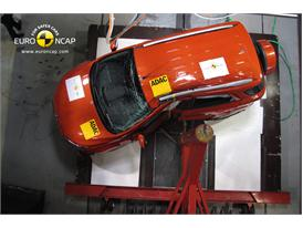 Ford EcoSport -Pole crash test 2013 - after crash