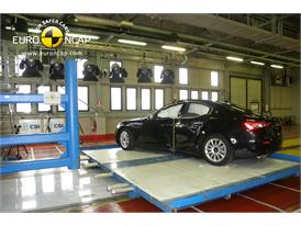 Maserati Ghibli -Pole crash test 2013 - after crash
