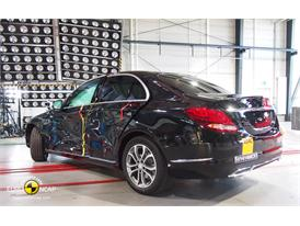 Mercedes C-Class -Side crash test 2014 - after crash