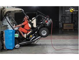 Club Car Villager 2+2 LSV  Frontal crash test 2014