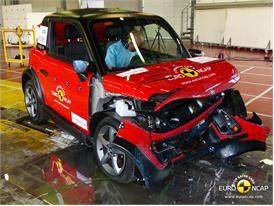 Tazzari ZERO  - Frontal crash test 2014 - after crash