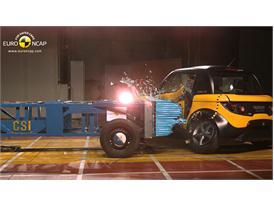 Tazzari ZERO  -Side crash test 2014 - after crash