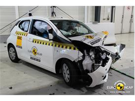 Toyota Aygo - Frontal crash test 2014 - after crash