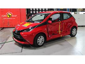 Toyota Aygo  - Side crash test 2014 - After Crash