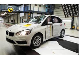 BMW 2 Series Active Tourer  - Pole crash test 2014 - after crash