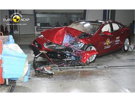 Tesla Model S - Frontal crash test 2014 - after crash