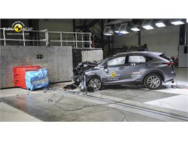 Lexus NX - Frontal crash test 2014 - after crash