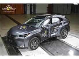 Lexus NX  - Pole crash test 2014 - after crash