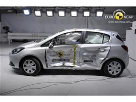 Opel/Vauxhall Corsa  - Side crash test 2014