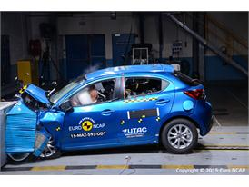 Mazda 2  - Frontal Offset Impact test 2015