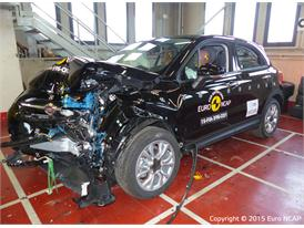 FIAT 500X - Frontal Offset Impact test 2015 - after crash
