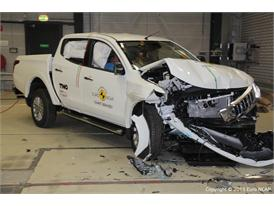 Mitsubishi L200 - Frontal Offset Impact Test 2015 - After Crash