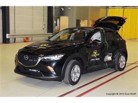 Mazda CX-3  - Side crash test 2015