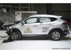 Hyundai Tucson - Frontal Offset Impact test 2015 - after crash