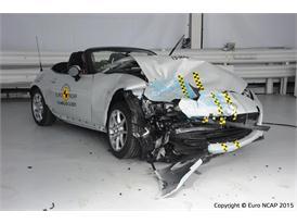 Mazda MX-5 - Frontal Offset Impact test 2015 - after crash