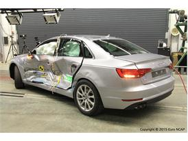 Audi A4 - Side crash test 2015 - after crash