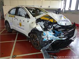 Honda HR-V - Frontal Offset Impact test 2015 - after crash