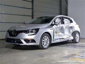 Renault Mégane - Side crash test 2015 - after crash