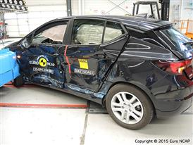 Opel-Vauxhall Astra  - Side crash test 2015 - after crash