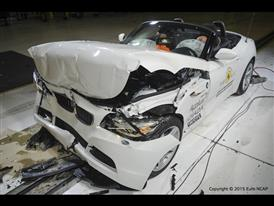 BMW Z4- Frontal Full Width test 2015 - after crash