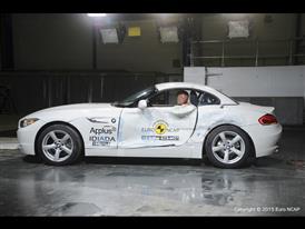 BMW Z4 - Side crash test 2015 - after crash