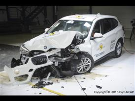 BMW X1- Frontal Offset Impact test 2015 - after crash