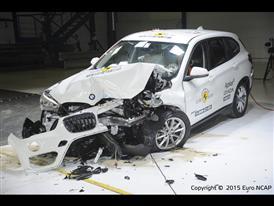 BMW X1- Frontal Offset Impact test 2015 - after crash