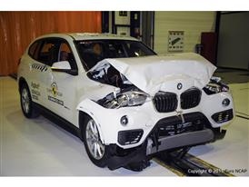 BMW X1- Frontal Full Width test 2015 - after crash