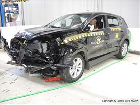 Kia Sportage - Frontal Offset Impact test 2015 - after crash